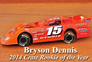 Bryson Dennis (Greeneville, TN) - 2014 Volunteer Speedway Crate Late Model Rookie-of-the-Year
