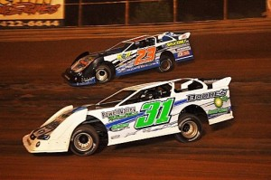 (7-11-15) Greg Estes #31 - Cory Hedgecock #23 (Steel Head Late Model)